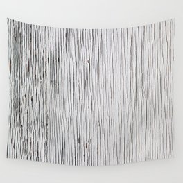 Urban Wood - White Cracked Wall Tapestry