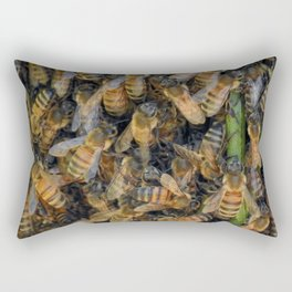 Beautiful Bees Rectangular Pillow