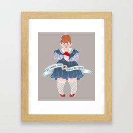 To Thine Own Self Framed Art Print