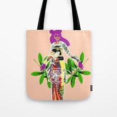 Girl in Utamaro Dress Tote Bag