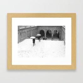 Winter Walk in New York Framed Art Print
