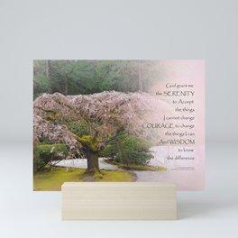 Serenity Prayer Cherry Tree One Mini Art Print