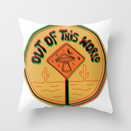 Out of this world in 3d Throw Pillow
