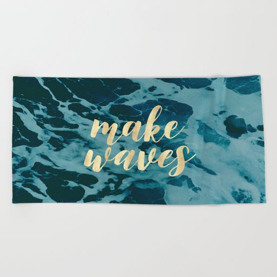 Make Waves in Gold Beach Towel