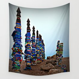 ceremonial posts Serge Olkhon Wall Tapestry