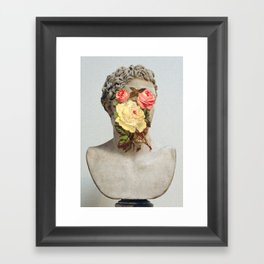 Bust With Flowers Framed Art Print