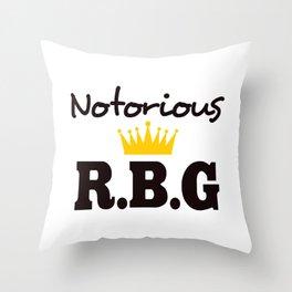 Notorious R.B.G Throw Pillow