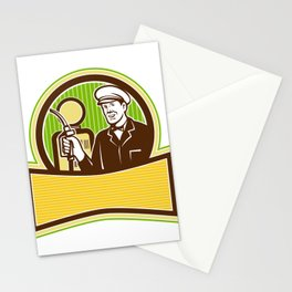 Vintage Gas Attendant Retro Stationery Cards