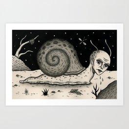 A Snail's Pace Art Print