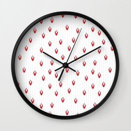 Red Lights on Snow Wall Clock