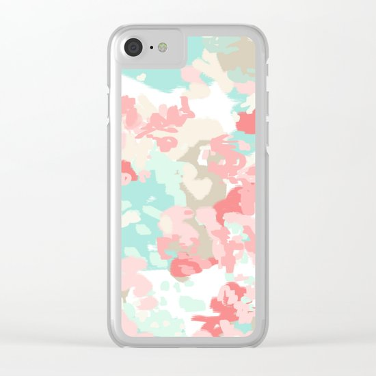 Branch - abstract minimal modern art office home decor dorm gender neutral bright happy painting Clear iPhone Case