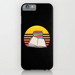 Retro Book Librarian Funny Bookworm Reading iPhone Case