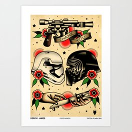 Force Awakens  Art Print