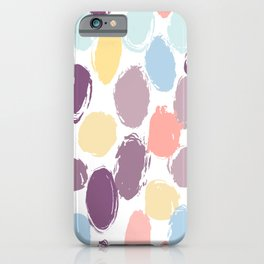 Polka dot pattern abstract simple scandinavian style colorful grunge texture. trend of the season. Vector illustration iPhone Case
