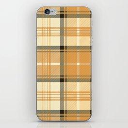 Gold Tartan iPhone Skin