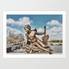 Pont Alexandre III Bridge Paris, France Art Print