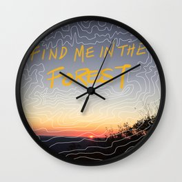 Love In High Places Wall Clock