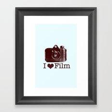 I ♥ Film (Maroon/Aqua) Framed Art Print