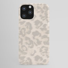 Beige leopard print . iPhone Case