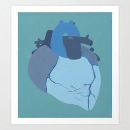 Melancholy Heart Art Print