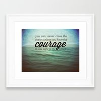 courage Framed Art Prints featuring Courage by Chris Klemens