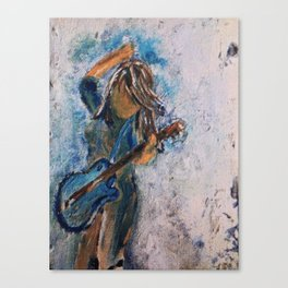 rock and roll goddess Canvas Print