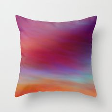 Morning Rise Fractal Abstract Throw Pillow