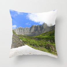 Peaks and Glaciers Throw Pillow