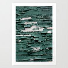 Green Paint III Art Print