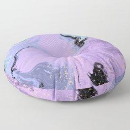 Lavender Mint Marble Floor Pillow