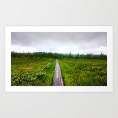 lapland, hiking trail. Art Print
