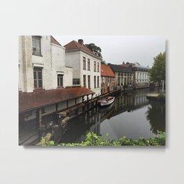 Canal in Brugge Metal Print