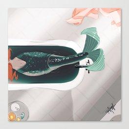 Mermaid Me-Time Canvas Print