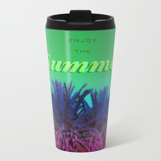 Enjoy The Summer with Palms Metal Travel Mug