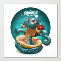 squirtle Canvas Prints featuring Squirtle by Danilo Fiocco