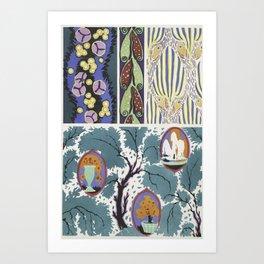 vintage classic pattern design Art Print