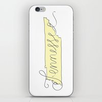 tennessee iPhone & iPod Skins featuring Tennessee - Yellow by Oh Happy Roar - Emily J. Stivers