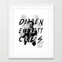 darren criss Framed Art Prints featuring Darren Criss by kltj11