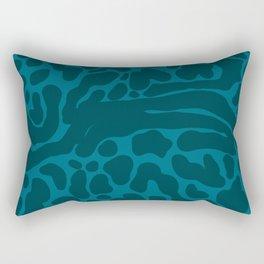 King Cheetah Print in Emerald Teal Rectangular Pillow