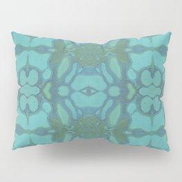 Evergreen and Aqua Nouveau Pattern Pillow Sham