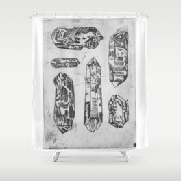 Arrangement of Crystals Shower Curtain