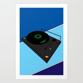 Turn Table Art Print