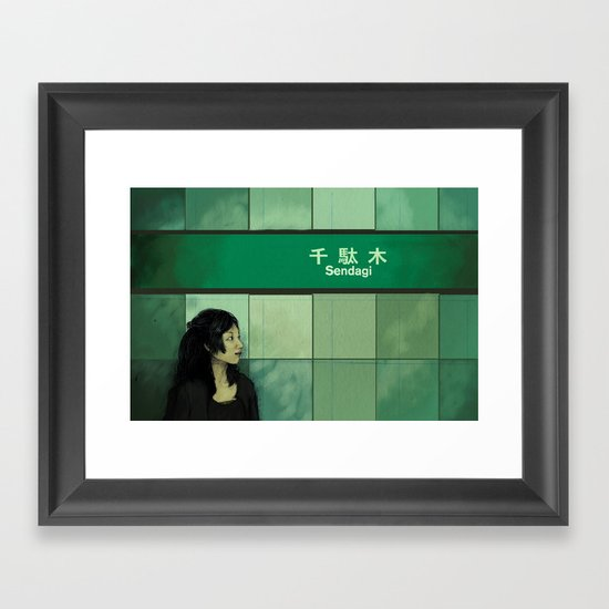 Subway Girl Framed Art Print