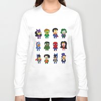 superheroes Long Sleeve T-shirts featuring superheroes by Manola  Argento