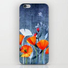 Summer night- Shadow of a Poppy meadow- Flowers iPhone Skin