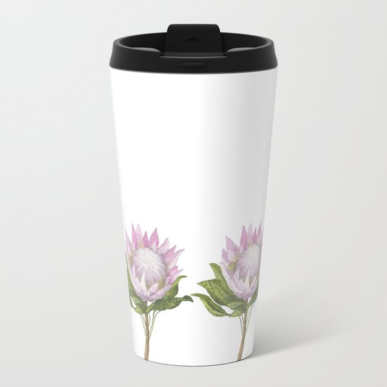 Beautiful Lotus Metal Travel Mug