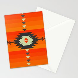 Southwestern in orange and red Stationery Cards
