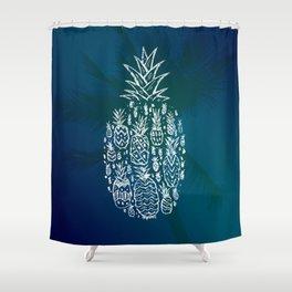Pineapple Fields Forever Shower Curtain