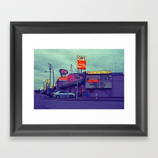 American diner Framed Art Print