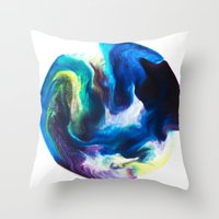 dragon ball Throw Pillows featuring Ball by Chimisay